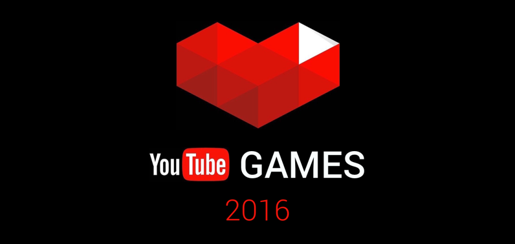 The YouTube Gaming logo with 2016 under it