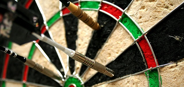 A dart board, symbolizing targeting different groups with your digital marketing.