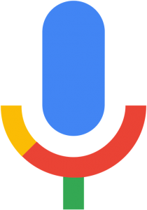 The emblem for Google Voice Search.