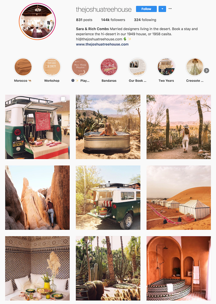 The Joshua Tree House Instagram page.